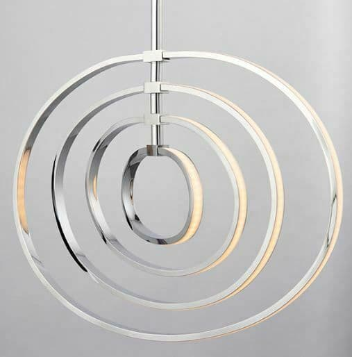 Avali 4lt monochrome Chrome Effect Pendant